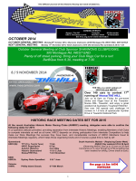 OCTOBER 2014 - Historic Sports and Racing Car Association