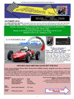 OCTOBER 2014 - Historic Sports and Racing Car Association