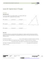 Lesson 30: Special Lines in Triangles - EngageNY