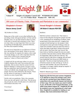 Knight Life Sept/October 2014 - Windsor Council 1453