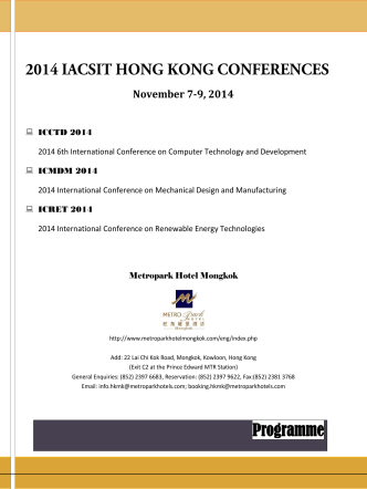 2014 IACSIT LONDON - 2014 6th International Conference on