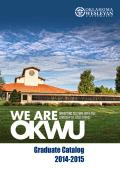 Graduate Catalog 2014-2015 - Oklahoma Wesleyan University