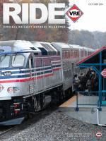 RIDE Magazine | October 2014 1 - Virginia Railway Express