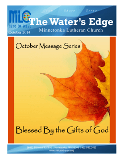 October, 2014 - Minnetonka Lutheran Church
