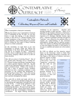 Fall 14 Newsletter now available! - Contemplativeoutreach-phoenix