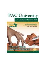 PAC University Program.indd - Pan Africa Christian University