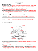 HOMEWORK WORKSHEET Chapter 4.1-4.3 4.1 – Chemical - Mr