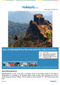 Download Mahabaleshwar Travel guide in PDF format - HolidayIQ