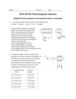 APCH 20 HW: Electromagnetic Induction