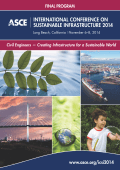 international conference on sustainable infrastructure 2014
