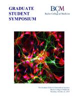 2014 graduate student symposium - Baylor College of Medicine
