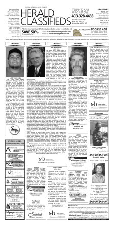 Classifieds - The Lethbridge Herald