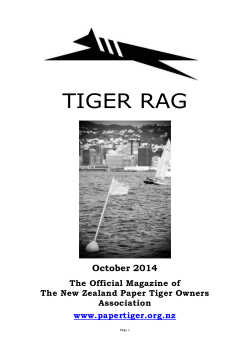 Tiger Rag - New Zealand Paper Tiger Owners Association
