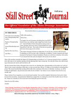 Fall 2014 Stall Street Journal - Alamo Dressage Association