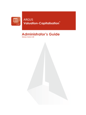 Administrators Guide - ARGUS Software
