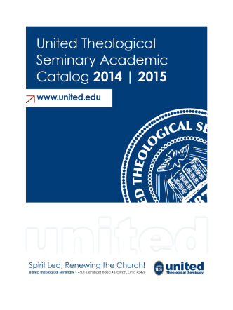 Catalog - United Theological Seminary