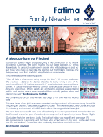Newsletter - Our Lady of Fatima Dominican Convent School