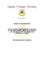 List of Graduands 2014 - Uganda Martyrs University