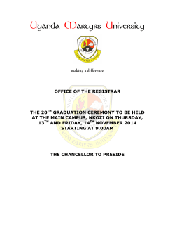 List of Graduands 2014 - Uganda Martyrs University