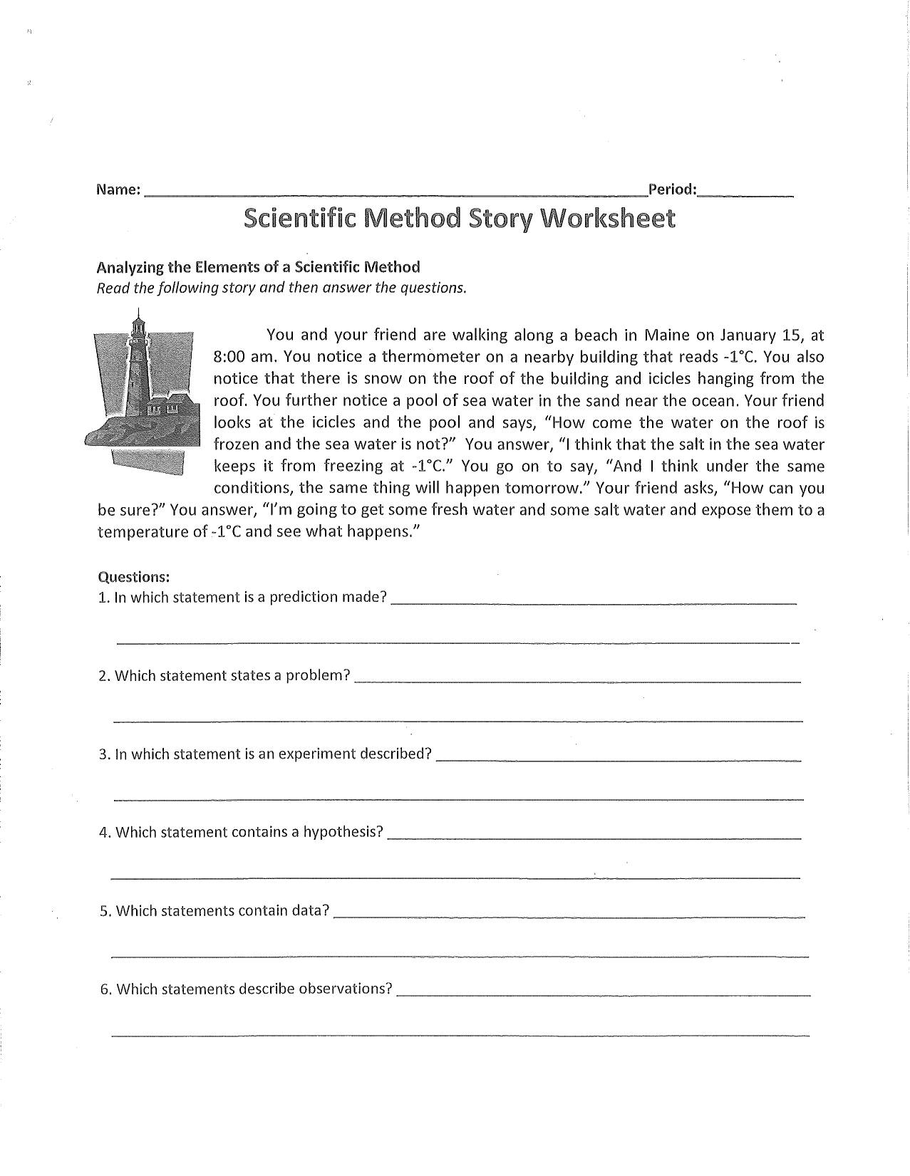 scientific method spongebob worksheet answers Termolak – Science Worksheet Answers