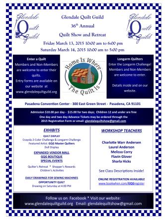 2015 Quilt Show Brochure - PDF - Glendale Quilt Guild