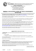 renewal alaska business license and tobacco endorsements