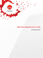 MSA Online Application Users Guide - Engineers Australia