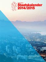 Staatskalender 2014/2015 - Kanton Zürich