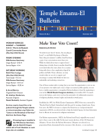 Download a PDF of the full November Bulletin - Temple Emanu-El
