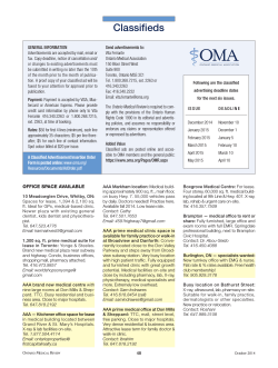 Classifieds - Ontario Medical Association