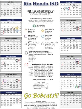 Calendar - Rio Hondo ISD