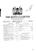 THE KENYA GAZETTE - Kenya Law Reports