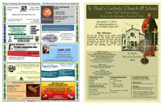 (A) Our Mission - St. Pauls Catholic Church & School