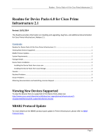 Readme for Device Packs 6.0 for Cisco Prime Infrastructure 2.1