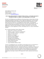 FOR IMMEDIATE RELEASE October 29, 2014 Contact: Katherine E