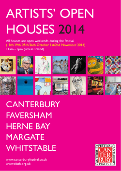 Download Brochure - Artists Open Houses