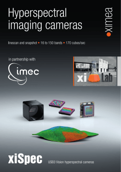 xiSpec Hyperspectral imaging cameras - Ximea
