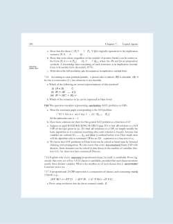 282 Chapter 7. Logical Agents a. Show that the clause (—Ti V is