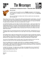 Newsletter - Southminster Presbyterian Church