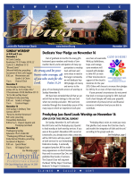 November Newsletter - Lewinsville Presbyterian Church!