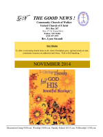 November Newsletter - Community Church of Walker UCC