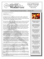 November 2014 Weathervane - Nantucket Unitarian Universalists