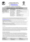Newsletter No 33 - Yarralumla Primary School
