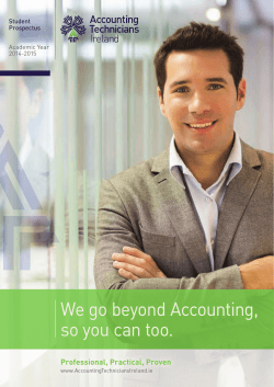 We go beyond Accounting, so you can too. - Accounting Technicians