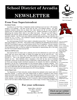 NEWSLETTER - Arcadia School District