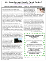 newsletter - Our Lady Queen of Apostles Catholic Parish, Stafford