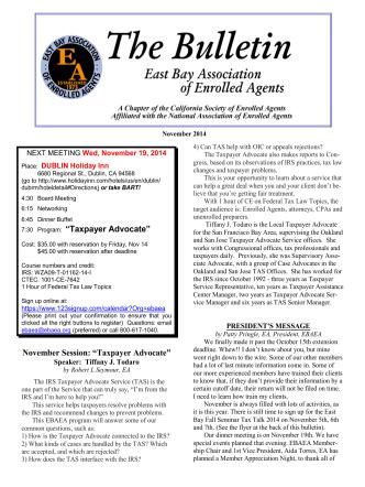 Current - East Bay Association of Enrolled Agents