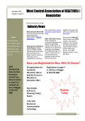 West Central Association of REALTORS® Newsletter