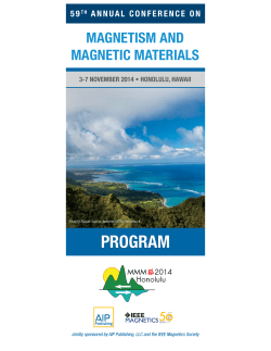 download the 2014 MMM Program - 59th Annual Magnetism and