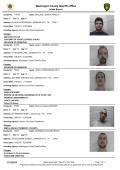 Weekly Arrest Report - Washington County Sheriffs Office